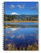 Dry Lagoon Panorama Spiral Notebook