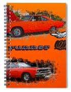 Dual Roadrunner Abstract Spiral Notebook