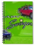 Dual Swingers Abstract Spiral Notebook