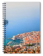 Dubrovnik Aerial View Spiral Notebook
