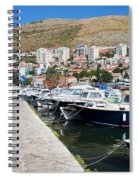 Dubrovnik Cityscape And Harbor Spiral Notebook