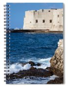 Dubrovnik Fortification And Bay Spiral Notebook