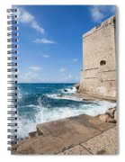 Dubrovnik Fortification And Pier Spiral Notebook
