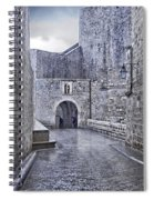 Dubrovnik In The Rain - Old City Spiral Notebook