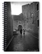 Dubrovnik In The Rain Spiral Notebook