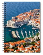Dubrovnik Old City Aerial View Spiral Notebook