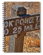 Duck Pond Trail Spiral Notebook