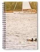 Duck Sailing Spiral Notebook