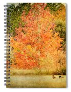 Ducks In An Autumn Pond Spiral Notebook
