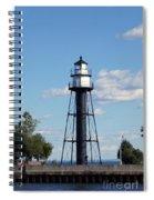 Duluth Mn Bridge Lighthouse Spiral Notebook