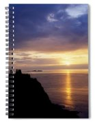 Dunluce Castle At Sunset, Co Antrim Spiral Notebook