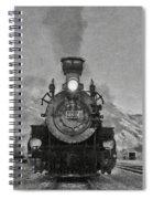 Durango Silverton Bw Painterly 3 Spiral Notebook