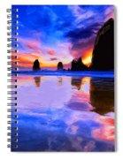 Dusk At Cannon Beach Spiral Notebook