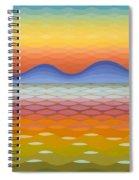 Dusk At Lake Balaton Spiral Notebook
