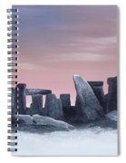 Dusk On The Winter Solstice At Stonehenge 1877 Spiral Notebook