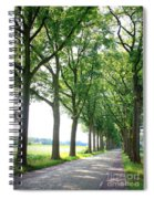 Dutch Country Road Spiral Notebook