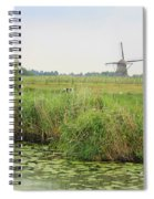 Dutch Landscape With Windmills And Cows Spiral Notebook
