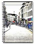 Dutch Shopping Street- Digital Art Spiral Notebook