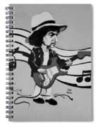 Dylan In Black And White Spiral Notebook