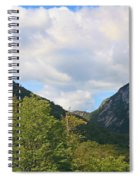Eagle Cliff Seen Froom Boise Rock In Franconia Notch Spiral Notebook