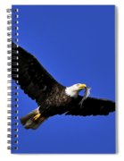 Eagle Fish In Mouth Spiral Notebook