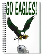 Eagles Vs Dallas Spiral Notebook