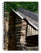 Early 19th Century Log Cabin Spiral Notebook