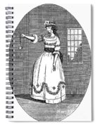 Early American Actress Spiral Notebook