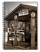 Early Gas Station Spiral Notebook