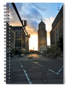 Early Morning Court Street Spiral Notebook