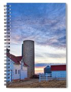 Early Morning On The Farm Spiral Notebook