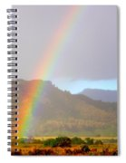 Early Morning Rainbow At Sleeping Giant Mountain Spiral Notebook