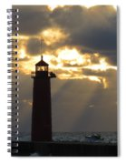 Early Morning Rays Spiral Notebook