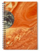 Earth And Jupiter Spiral Notebook