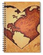 Earth Day Gaia Celebration Digital Art Spiral Notebook