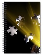 Earth Globe Bursting With Energy Spiral Notebook