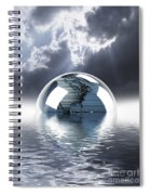 Earth Globe Reflection Spiral Notebook