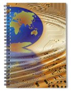 Earth In The Printed Circuit Spiral Notebook