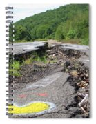 Earth Opening Road Closing Spiral Notebook
