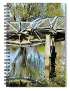 Earthquake Contortions Spiral Notebook