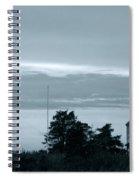 East Point Light At Dusk  Spiral Notebook