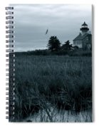 East Point Light Before The Storm  Spiral Notebook