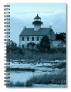 East Point Light In The Clouds Spiral Notebook