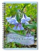 Easter Card - Virginia Bluebells Spiral Notebook