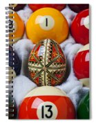 Easter Egg Among Pool Balls Spiral Notebook