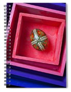 Easter Egg In Pink Box Spiral Notebook