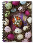 Easter Egg With Wreath Spiral Notebook