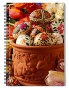 Easter Eggs In Flower Pot Spiral Notebook
