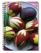Easter Eggs. Plant Print And Wax Drawing. Spiral Notebook
