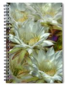 Easter Lily Cactus Bouquet Hdr Spiral Notebook